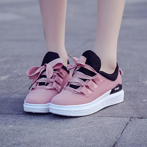 Women Shoes Flat Lace up Sports Shoe