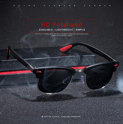 Branded Design Polarized Cool Guy Shades Men Sunglasses Driving Frame Uv Goggles