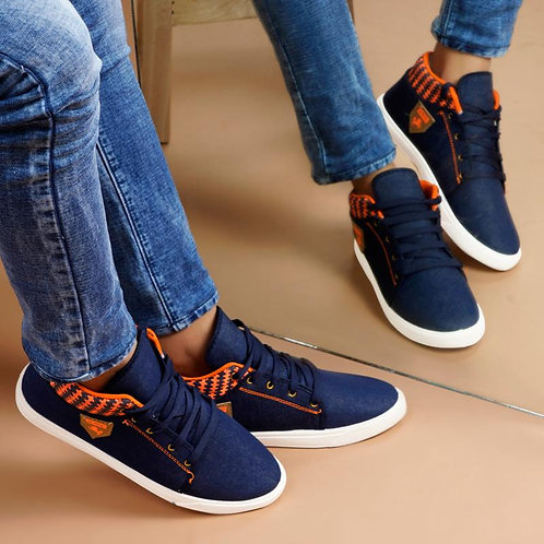 Camfoot Model Blue-1084 Casuals,Sneakers,Loafers Shoes For men