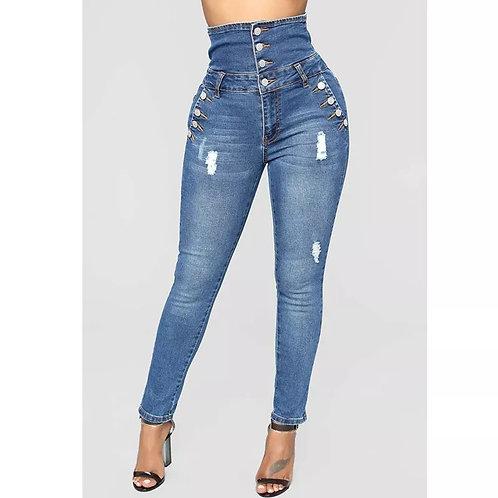 Ms High Waist Jeans Fashion Popular