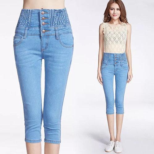 Female High Waist Thin Jeans Shorts