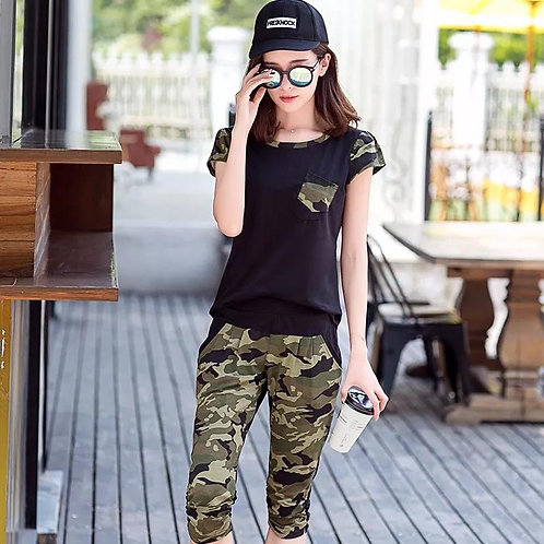 style fashionable camouflage trend sportswear Clothes Set