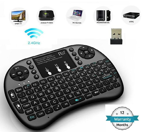 DRUMROAR Mini Wireless Keyboard Touchpad with Backlight, with Smart Function