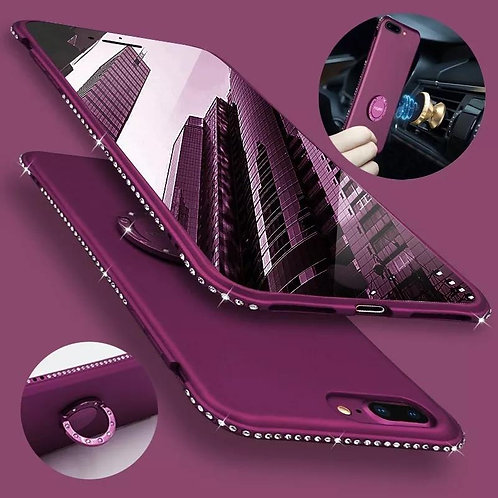 Bling With Bumper Ring Stand Thin Case