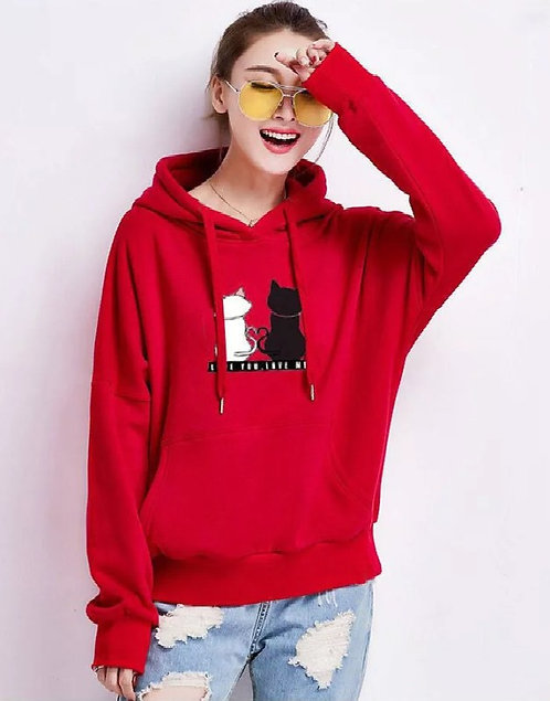 Ms Leisure Printing Hooded Sweater