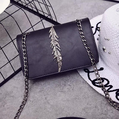 Women Fashion Leaves Decorated Casual Shoulder Crossbody Bags