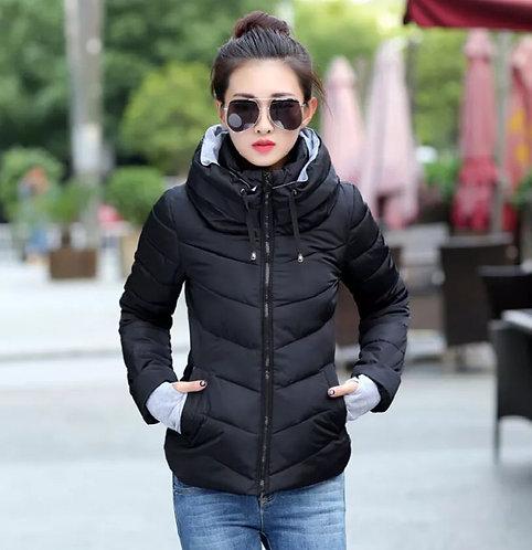 Female Fashion Short Hooded Down Jacket