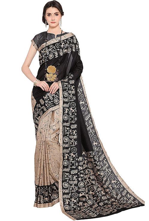 EthnicJunction Khadi Saree With Blouse Piece