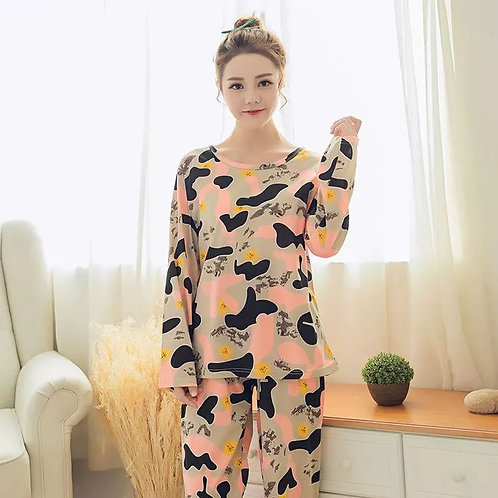 Pajamas Long Sleeved Home Suits