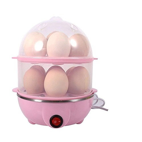 2 Layer Stainless Steel Electric Egg Boiler Poacher Multi color