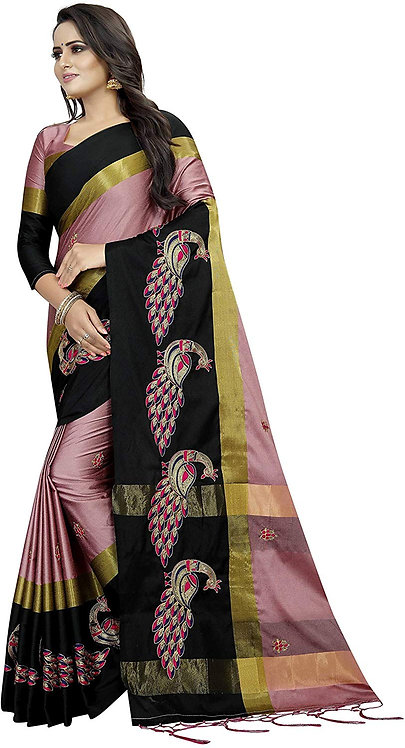 Shreeji Designer Cotton Silk Saree