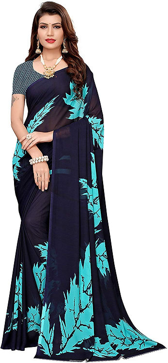 ANNI DESIGNER georgette with blouse piece Saree Free Size