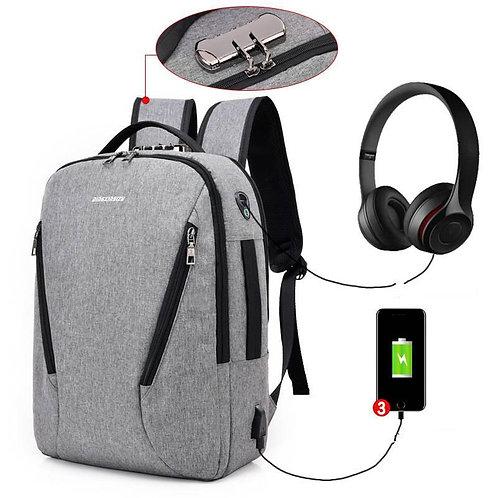 High Capacity Travel Waterproof Canvas Business Password Laptop Bag