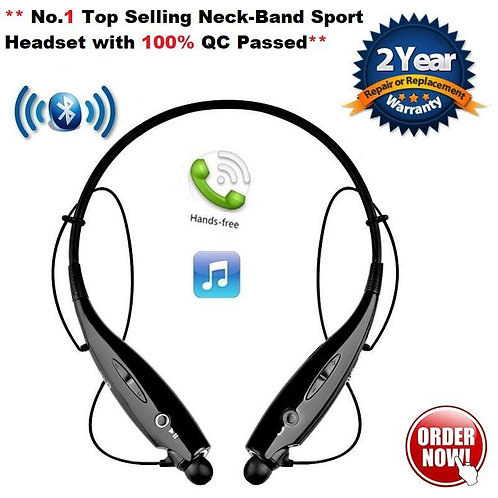 Neckband Bluetooth Headphones Earphone Wireless Headset with Mic