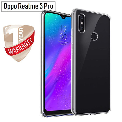 Oppo Realme 3 Pro Mobile Protective Back Case Cover (Transparent)