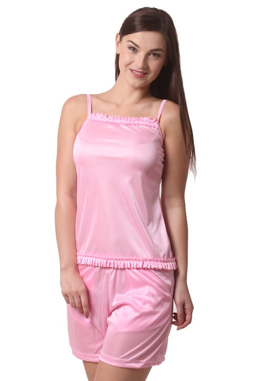 Being Fab Women's Solid Top & Shorts Set