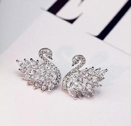 Trendy Simple Swans Earrings