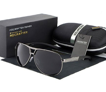 Metal Polarized Big Frame Sunglasses
