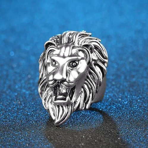 Man's Fashionable Hand Punk Lion Shaped Ring