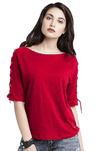 Om Sai Latest creation Women's Black Red Stachable Smooth Cotton Dailywear