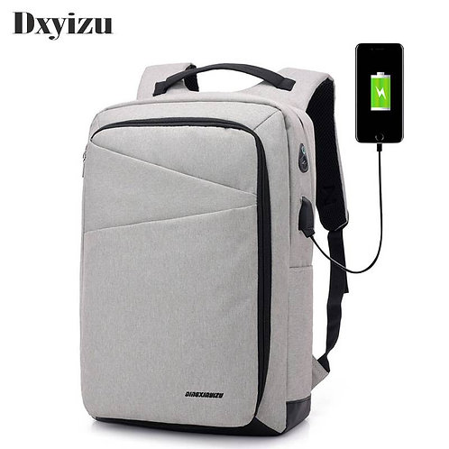 Usb Charge Anti Theft Men Backpack Laptop Large Capacity Waterproof Travel
