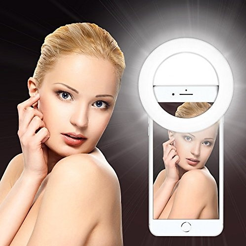 Rechargeable Selfie Ring Light with 32 LED for Smartphone Camera