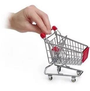 Simulated Supermarket Trolley Shape Storage Box