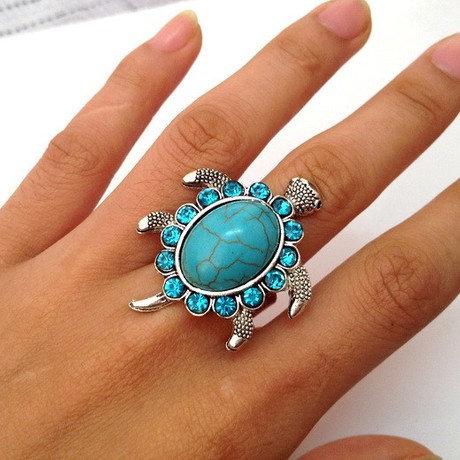 Turquoise Tortoise Ring