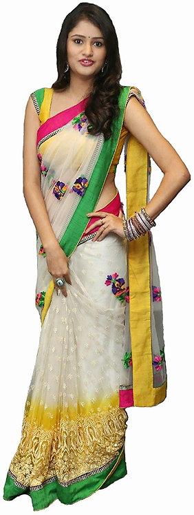 RJB's Saree, Women, Designer Saree, Net Saree, Half Half Saree