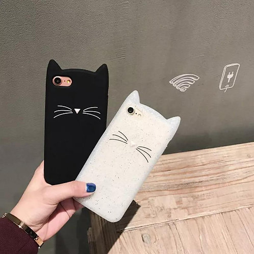 Fashion Trend Cute Beard Cat Silicone Iphone 8 Mobile Phone Case