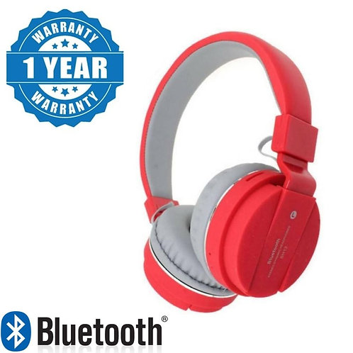 Raptas SH12 Wireless Bluetooth Headphone for All Mobile with Mic with FM and SD