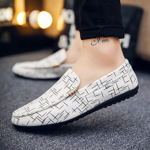 Printed Fashion Loafers Peas Shoes For Man