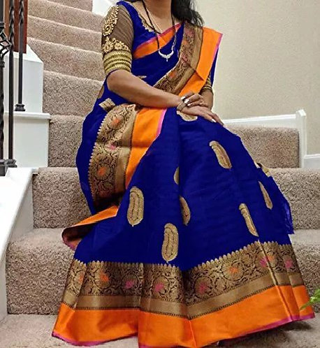 Anni Designer Printed Saree With Blouse Piece For Women