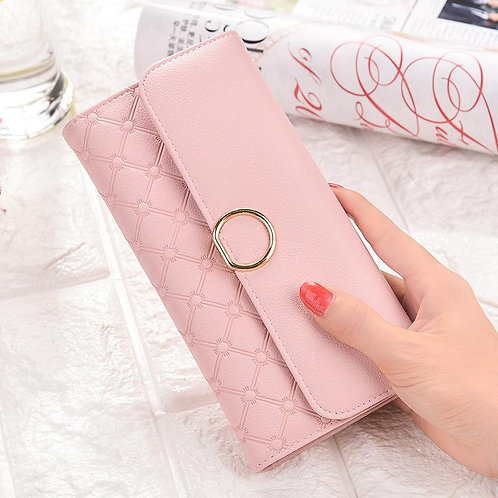 The Ms Wallet Female Long Clutch Version High Capacity Two Fold Money Clip Walle