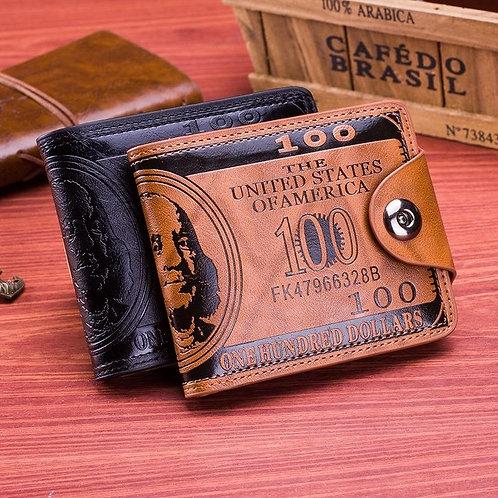 Men Boy Classic Leather Pockets Creidt Id Cards Holder Purse Wallet Ap Us Dollar