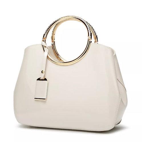 Bride Glossy Lacquer Satchel Handbag Bag