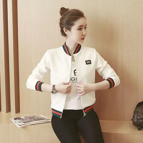 Female Jackets Big Thin Short Baseball Suit