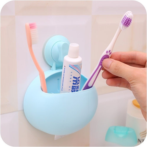 Creative Suction Cup Toothbrush Shelve