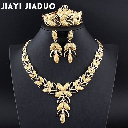 Necklace Earrings Bracelet Ring 4pc Jewelry Accessories Gift Bride Wedding Sets