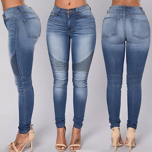 Sexy Denim Skinny Pants High Waist Stretch Jeans Slim Pencil Trousers