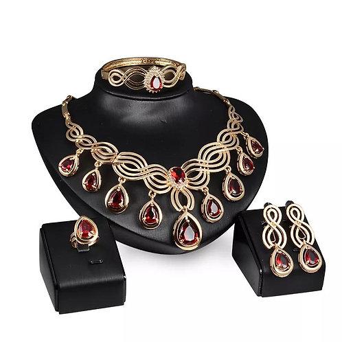 Crystal Tassel Wedding Jewelry Set