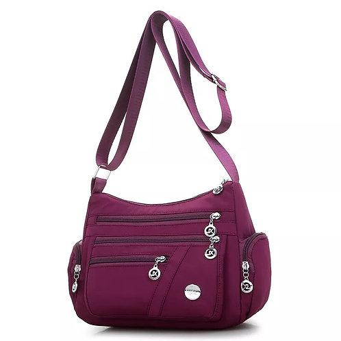 Bags Multi Story Leisure Shoulder Bag Large Capacity Satin Bag Nylon Bag