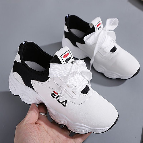 Women's Low-top Running With Thick-soled Leather Sports Shoes