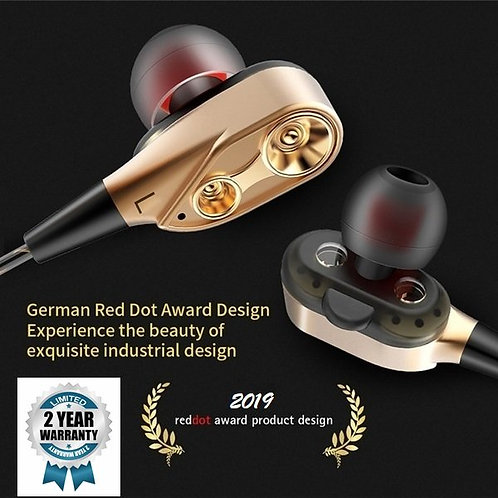 Latest Earphones with 4D Dual Driver Earphones with Amazing Bass
