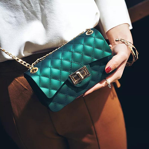 Package Jelly Diamond Chain Slanting Shoulder Candy Candy Jelly Bag