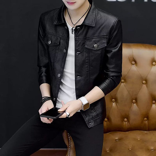 Spring and Autumn New Leather Jacket Men's Leather Jacket