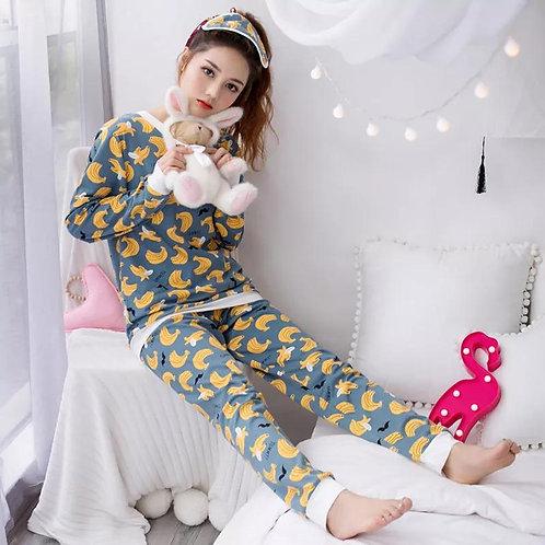 Fashion Popular Ms Pajamas Set (age Give Away Eye Mask )