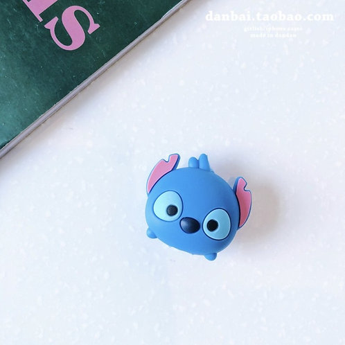 Cartoon Wired Data Cable Protector Cute Mickey Stitch