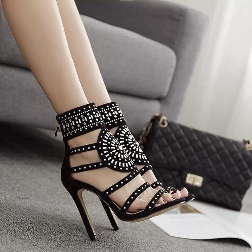 Sexy High Heel Hollowed Ribbon Sandals