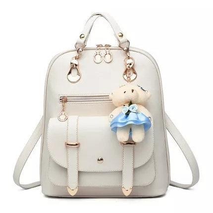 Leather School Girls Candy Travel Shoulder Waterproof Back Bags